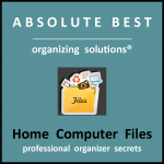 Organize home computer files logo