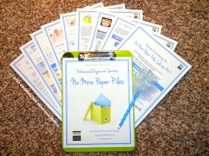 8 pg No More Paper Piles kit