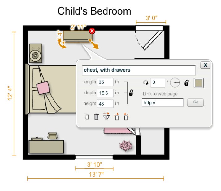 Professional organizer utah professional organizer organizing tips by organizing mind over for Bedroom floor plan with measurements