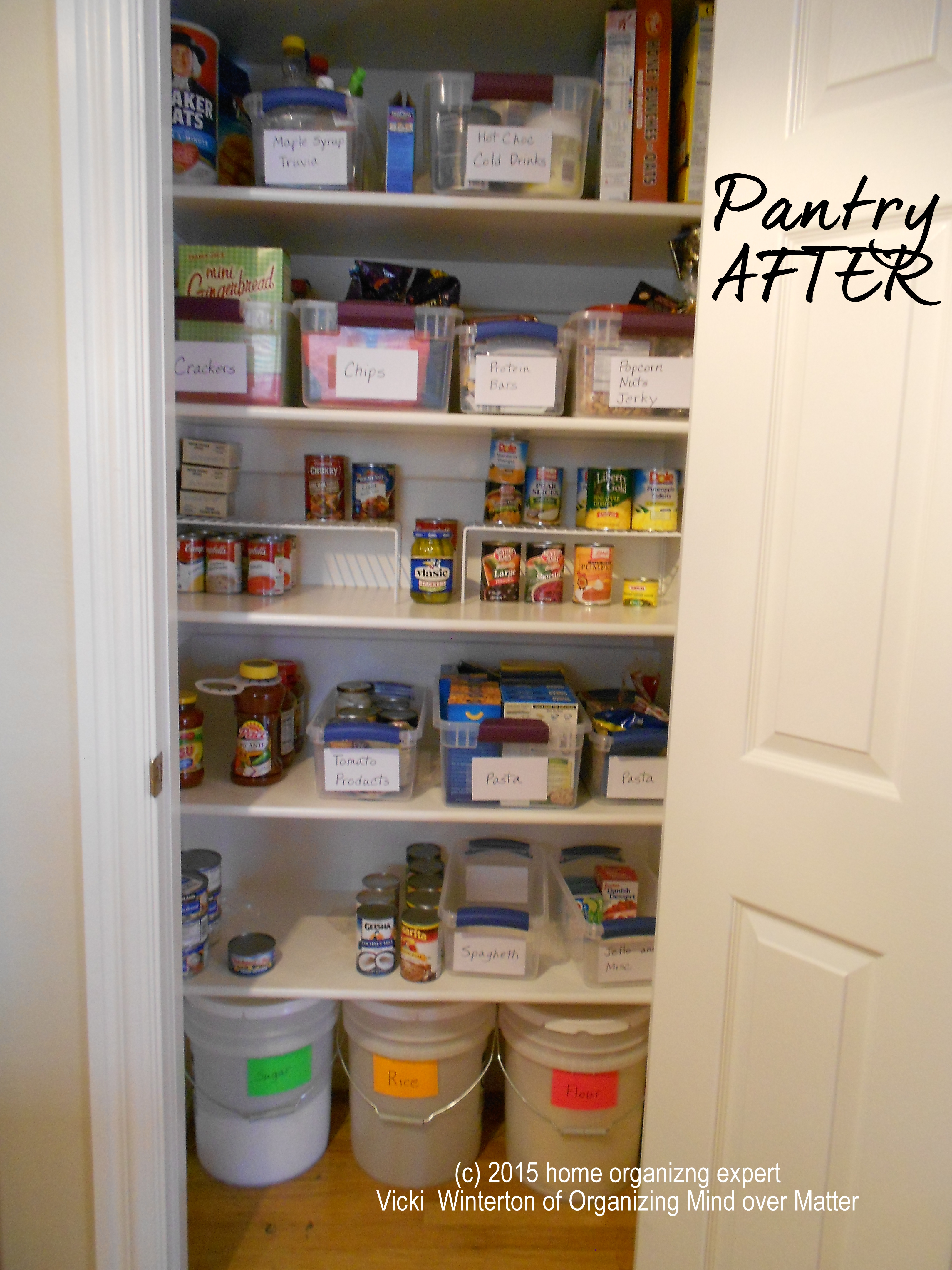 Kitchen Pantry AFTER Home Organizing Success Happens 2
