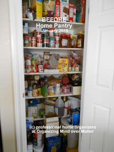Pantry photo BEFORE home organizing success happens 1