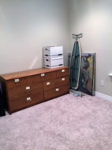 AFTER photo - how to purge a guest bedroom dresser